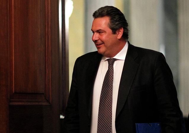 Panos Kamenos, ministro de Defensa de Grecia