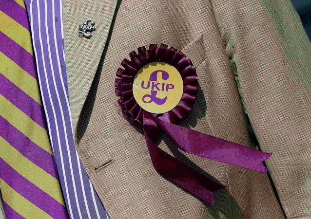 Logo del partido británico UKIP (archivo)