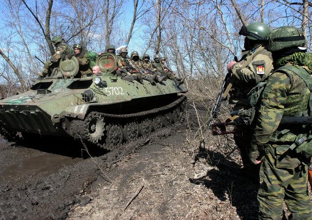 Milicias de Donetsk (archivo)