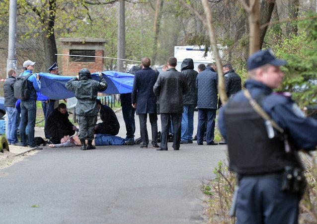 El lugar del asesinato de Oles Buzina