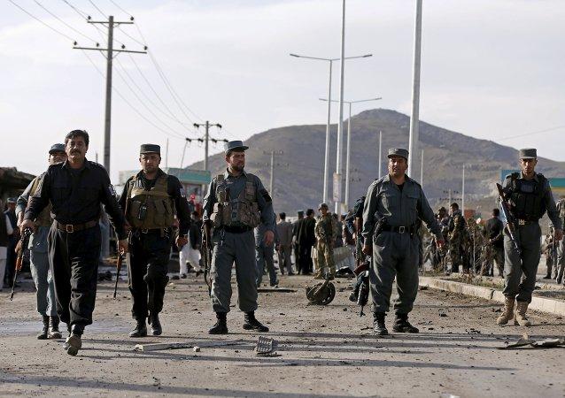 Policía en Afganistan