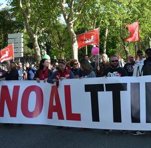 Protestas contra el TTIP (Archivo)