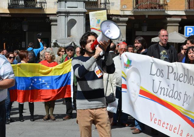 Concentración en Madrid en solidaridad con Venezuela