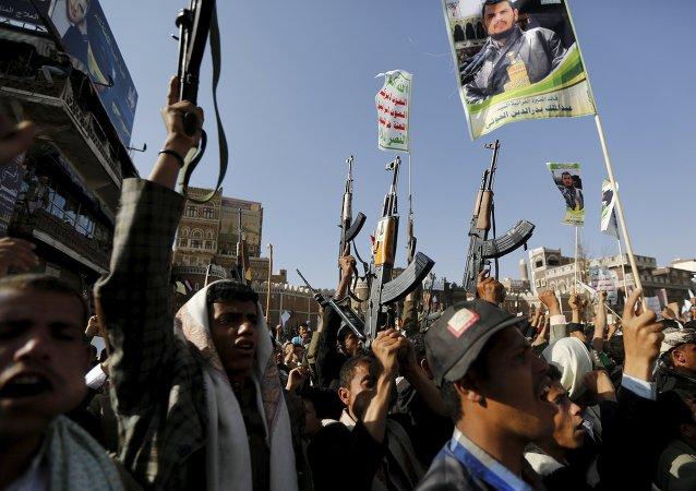 Rebeldes hutíes en Yemen