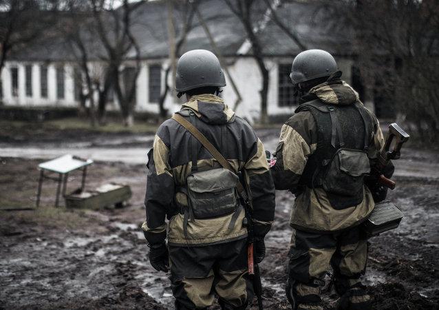 Milicianos de la RPD en Shirókino