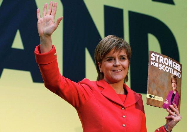Nicola Sturgeon, líder del Partido Nacionalista Escocés