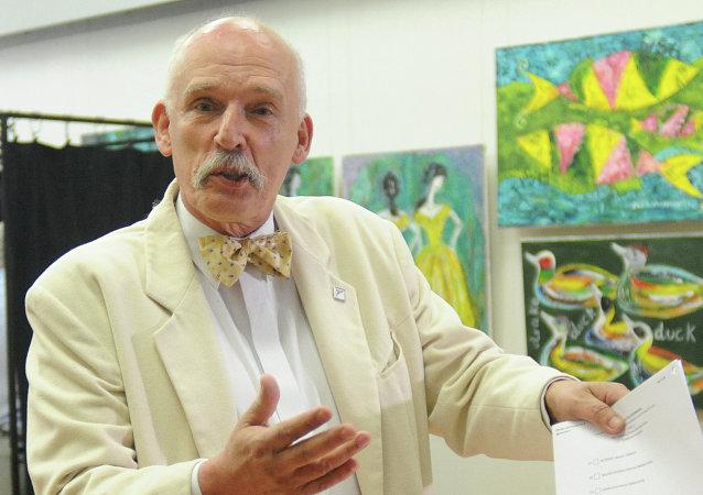Janusz Korwin-Mikke, líder del partido de derecha KORWiN