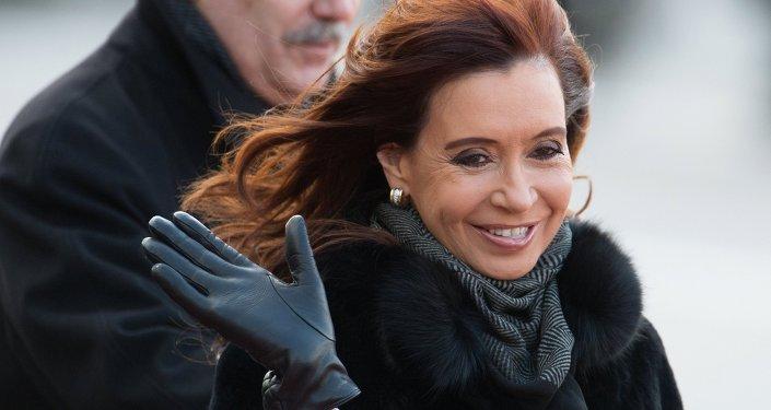Cristina Kirchner, presidenta de Argentina, durante su visita a Moscú