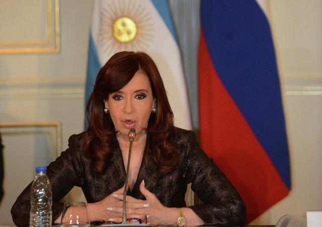 La presidenta Cristina Fernández en el encuentro con CEOs de empresas rusas