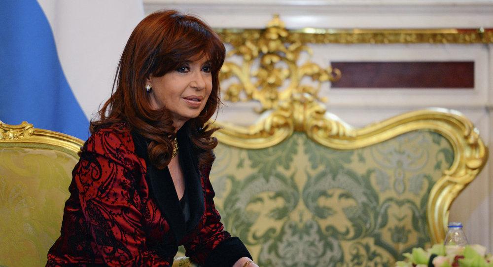 Cristina Fernández de Kirchner, presidenta de Argentina, durante su visita a Moscú