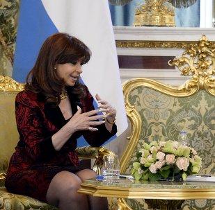 Cristina Kirchner, presidente de Argentina y Vladímir Putin, presidente de Rusia