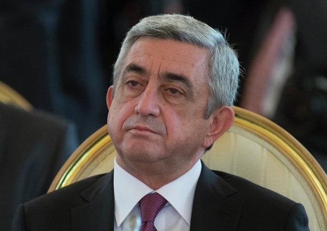 Serzh Sargsián, presidente de Armenia (archivo)