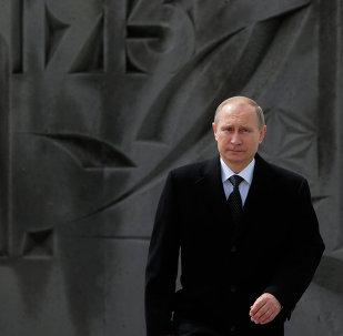 Vladímir Putin, presidente de Rusia, durante su visita a Armenia