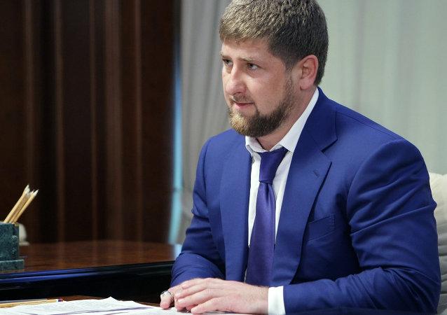 Ramzán Kadírov, jefe de la república rusa de Chechenia