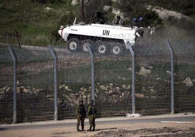 Frontera israelí-siria en los Altos del Golán