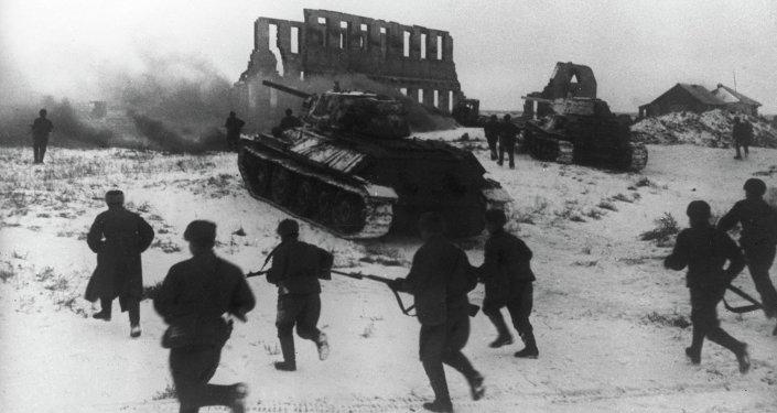 Soldados del ejército soviético durante el ataque en Stalingrado