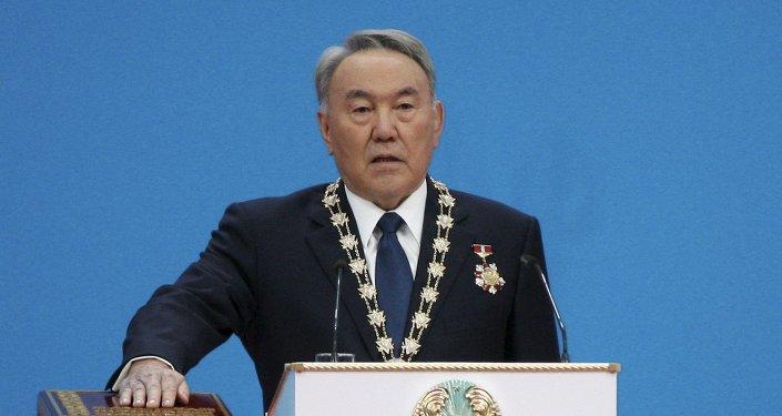 Nursultán Nazarbáev, presidente de Kazajistán