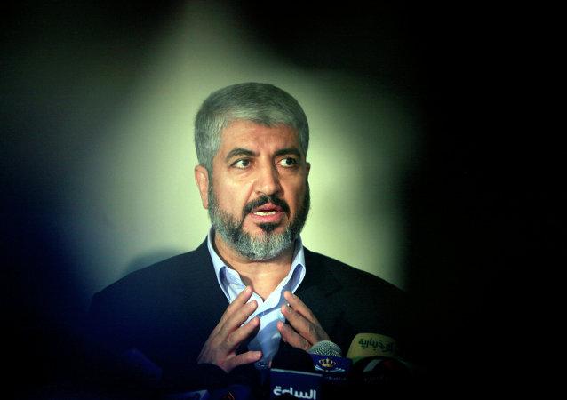 Jaled Meshal, líder del grupo palestino islámico Hamás