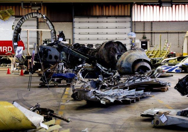 Restos del Boeing 777 derribado en el este de Ucrania