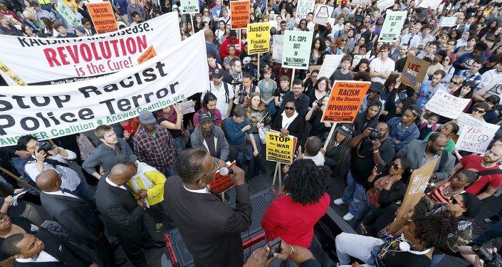 Manifestación de protesta en Washington