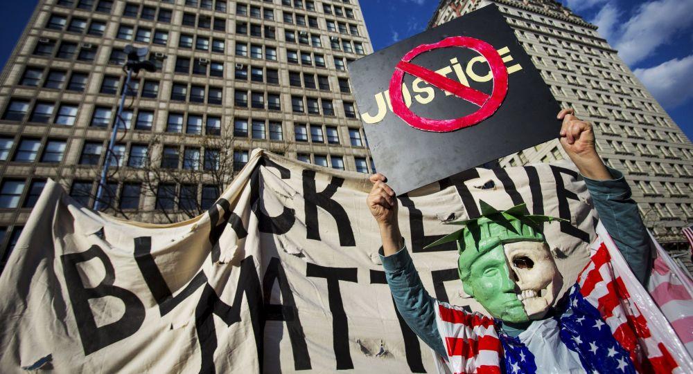 La protesta en Nueva York