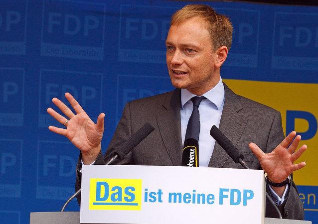 Christian Lindner, presidente del opositor Partido Democrático Liberal de Alemania