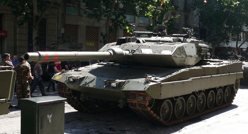 Leopardo 2E del Ejército de Tierra de España