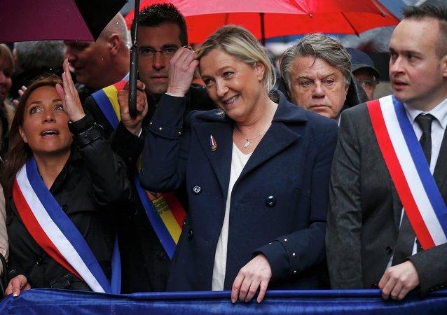Marine Le Pen, presidenta del Frente Nacional