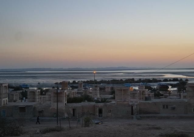 Vista de la isla de Qeshm, Irán