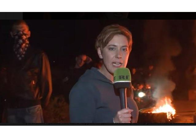Paula Slier, reportera de la cadena RT