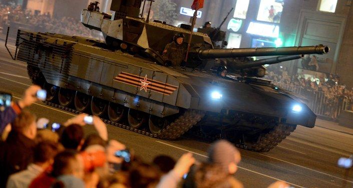 Ensayo del desfile militar del 9 de mayo en Moscú