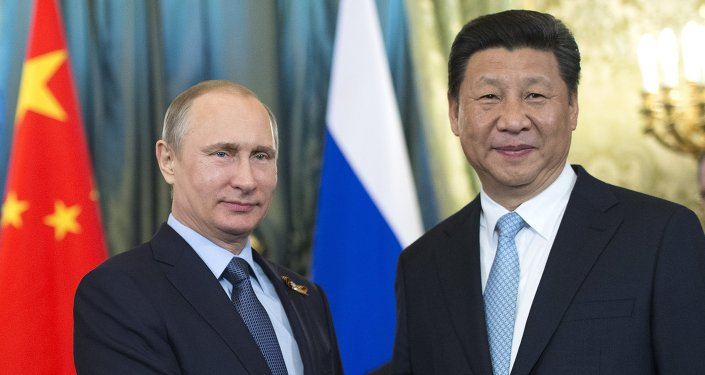 Presidente de Rusia, Vladímir Putin, y presidente de China , Xi Jinping