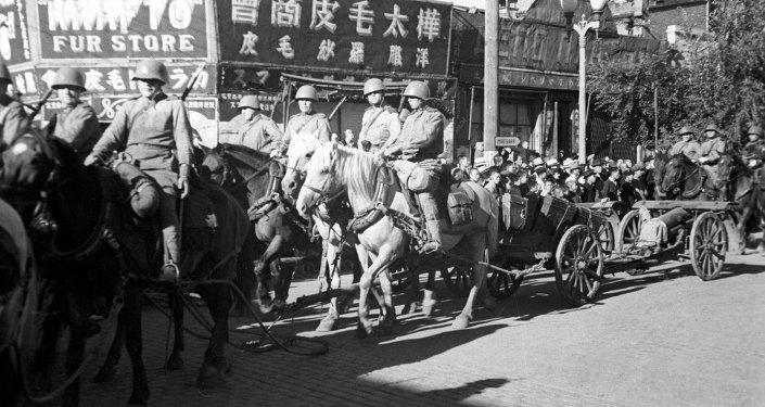 Soldados soviéticos en China (archivo)