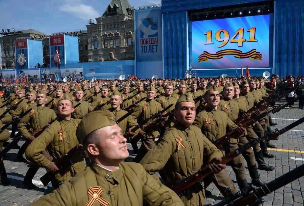Desfile de la Victoria en la Plaza Roja de Moscú