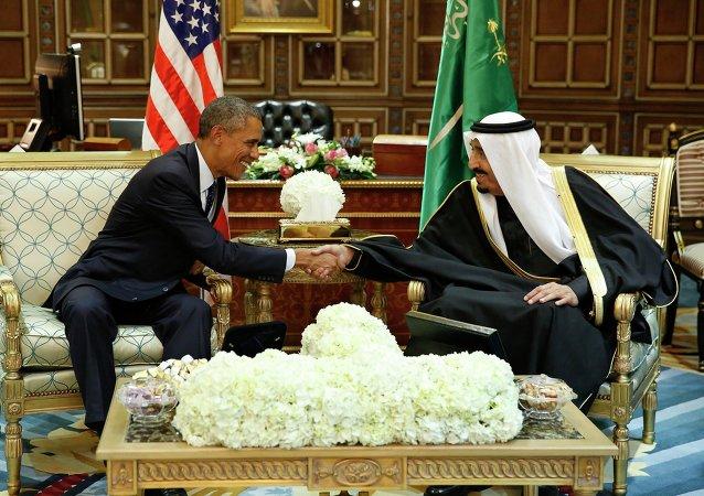 Barack Obama, presidente de EEUU y rey de Arabia Saudí, Salmán bin Abdulaziz