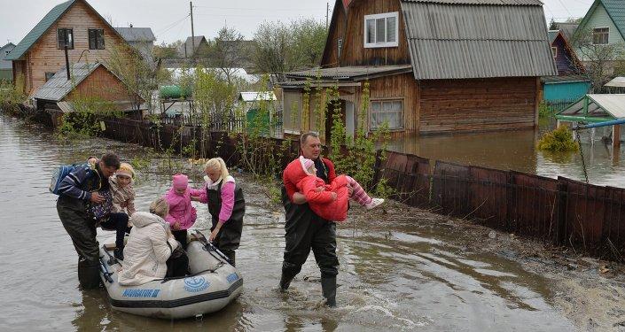 """Riada """"histórica"""" en la provincia siberiana de Novosibirsk"""