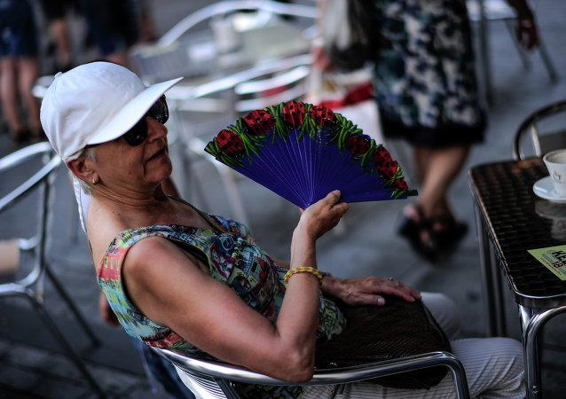 Ola de calor en Barcelona (archivo)