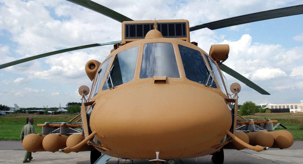 Helicóptero militar de transporte Mi-171Sh en el Salón Internacional de la Aviación y el Espacio MAKS (Archivo)
