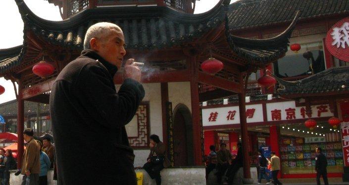 Un fumador en Pekín