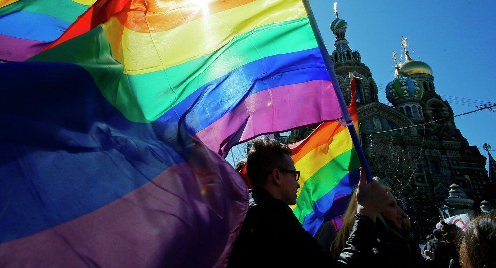Manifestación de LGBT en San Petersburgo