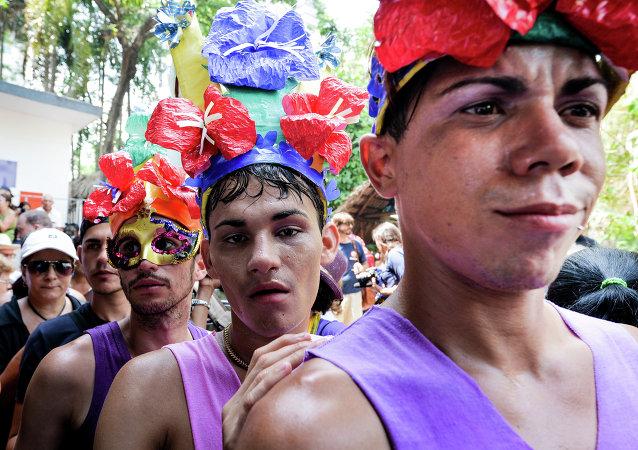 Miembros de la comunidad LGBT de Cuba