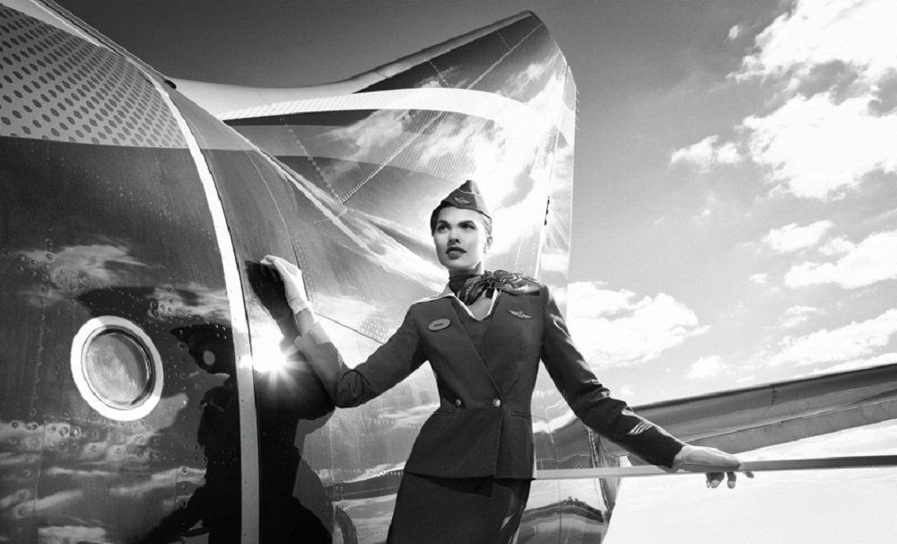 Una azafata de Aeroflot