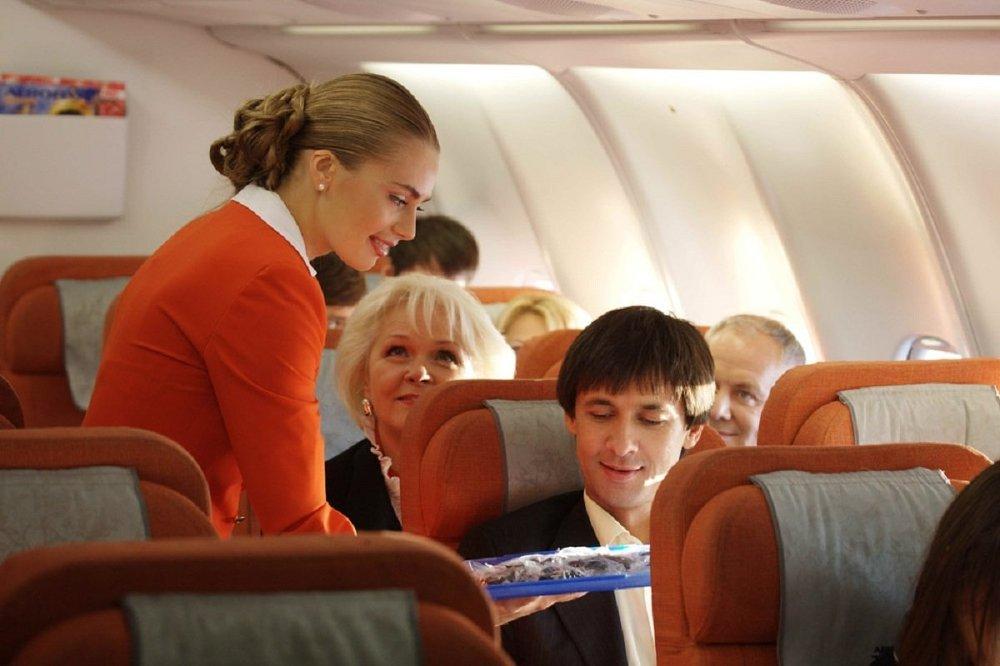 Una azafata de Aeroflot.