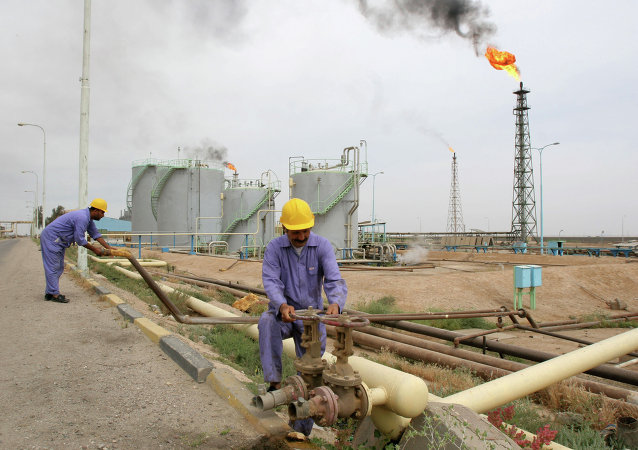 Extracción de petróleo en Irak