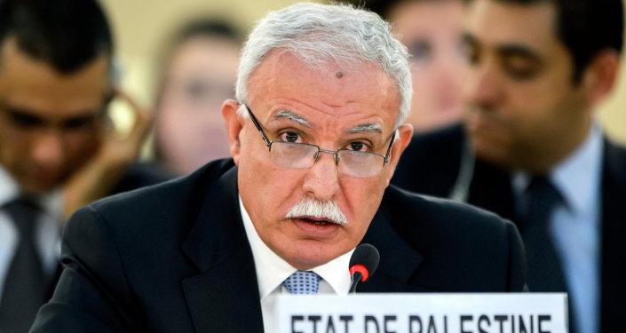 Riad Maliki, canciller de la Autoridad Nacional Palestina