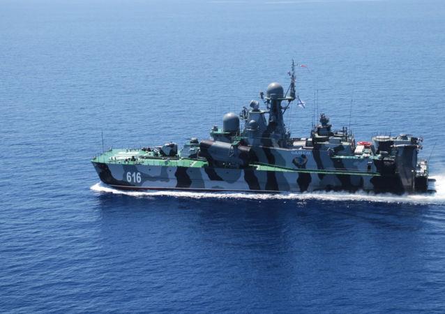 Buque de la Armada de Rusia en el mar Mediterráneo (archivo)