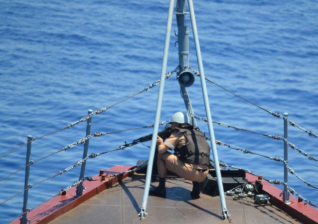Maniobras chino-rusas Interacción Marítima 2015