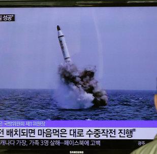 Ensayo de un misil balístico de Corea del Norte (archivo)