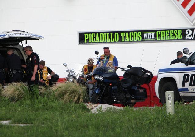 Lugar del tiroteo entre dos bandas moteras en Wako, Texas