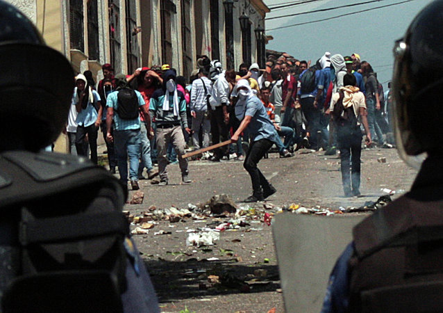 Una marcha estudiantil en San Cristóbal